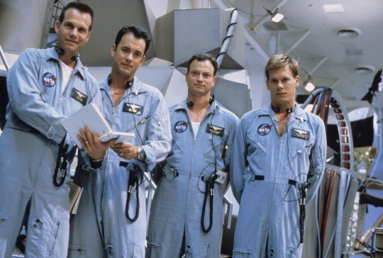 Bill Paxton, Tom Hanks, Gary Sinise, and Kevin Bacon as they appear in APOLLO 13, 1995.
