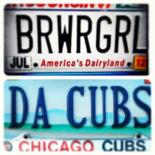 My trip to the windy city started off with a license plate show-down. It's BRWRGRL for the win!
