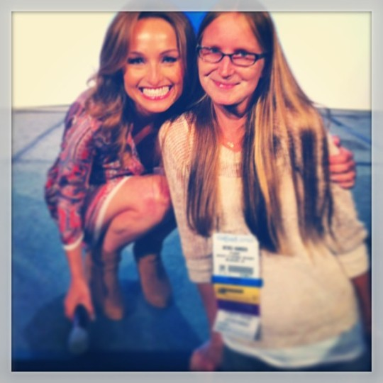 Just my BFF Giada and I hanging out, swapping lasagna recipes. You know, the usual.